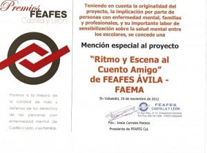 PREMIOS FEAFES C Y L RITMO Y ESCENA