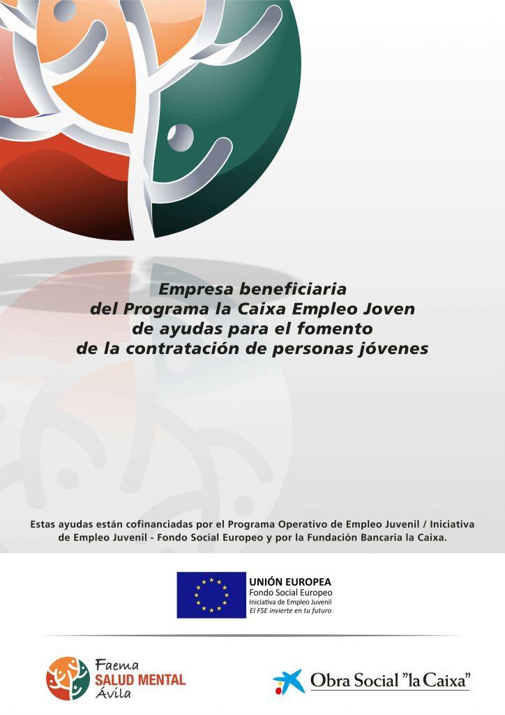 Cartel La Caixa Empleo Joven 2019 - Asociación FAEMA